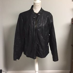 Max Jeans Black Leather Jacket